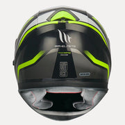 MT Thunder3 SV Rikos Helmet fluorescent yellow back view