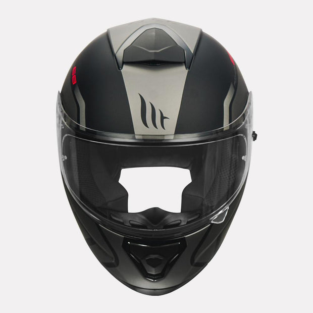 MT Thunder3 SV Rikos Helmet grey front view