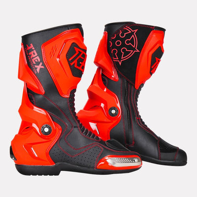 Ryo-T-Rex-Riding-Boots-Red