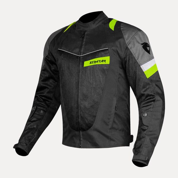 SCIMITAR-Razor-Fluorescent-Green Riding Jacket