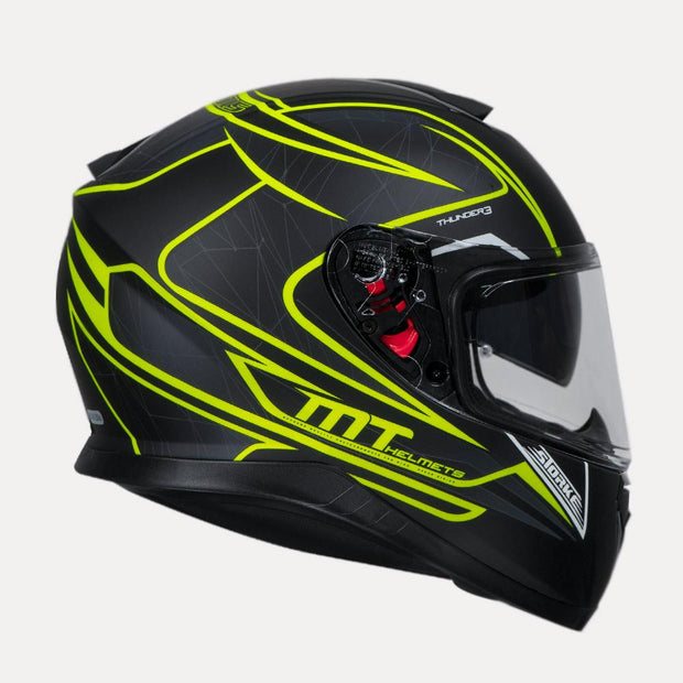 MT Thunder 3 SV Storke Fluorescent Yellow Helmet