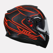 MT Thunder Storke helmet fluorescent orange side view