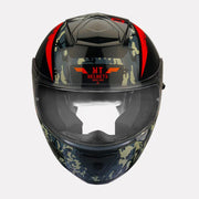 MT Thunder Sniper helmet fluorescent orange front view