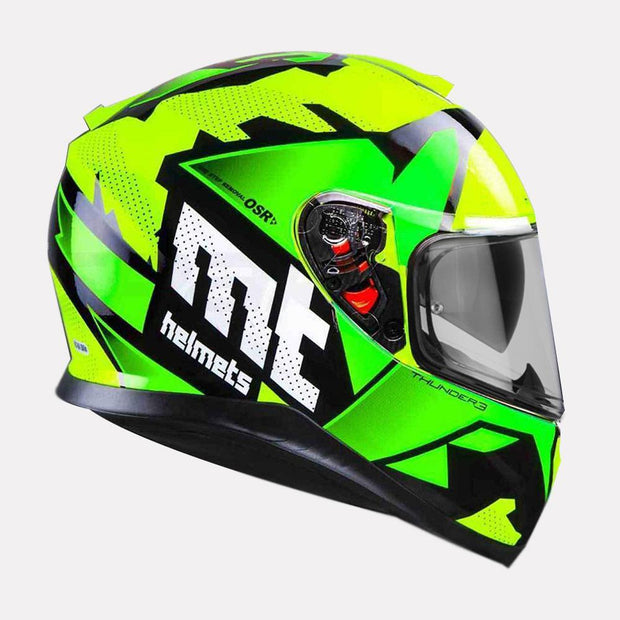 MT Thunder Torn helmet green side view