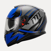 MT Thunder Cap helmet blue side view