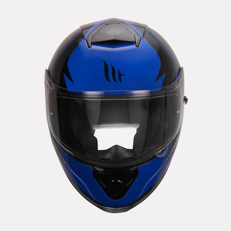 MT Thunder Cap helmet blue front view