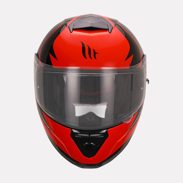 MT Thunder Cap helmet red front view