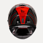 MT Thunder Cap helmet red back view