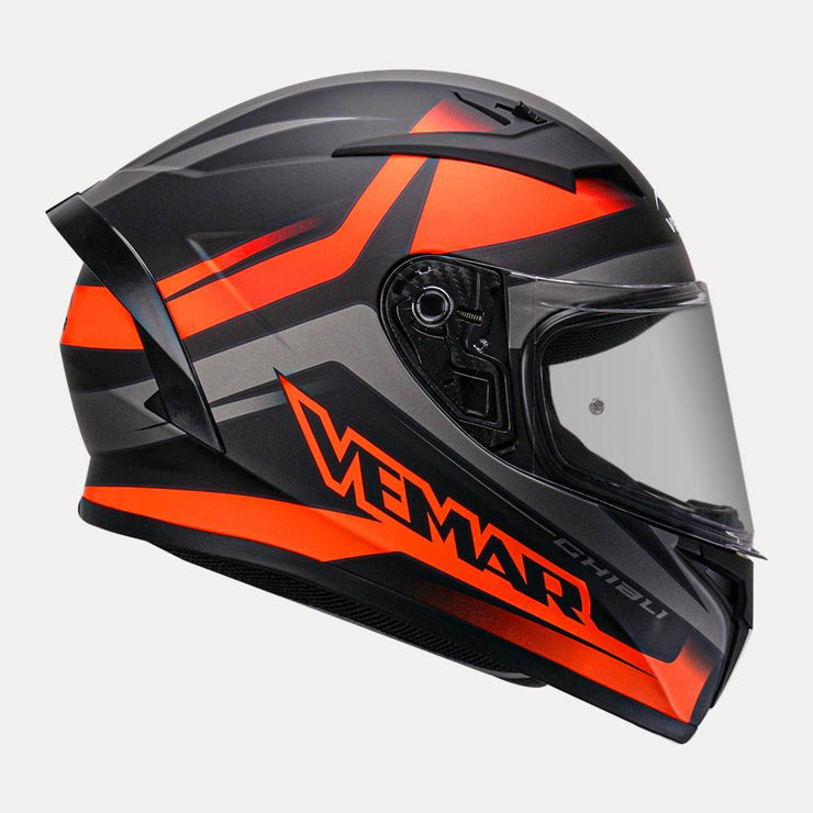 Vemar Ghibli Helmet orange side view