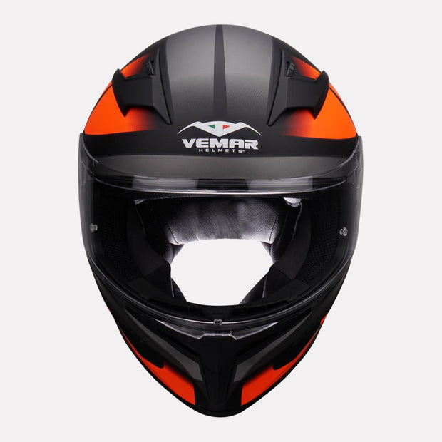 Vemar Ghibli Helmet orange front view