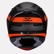 Vemar Ghibli Helmet orange back view