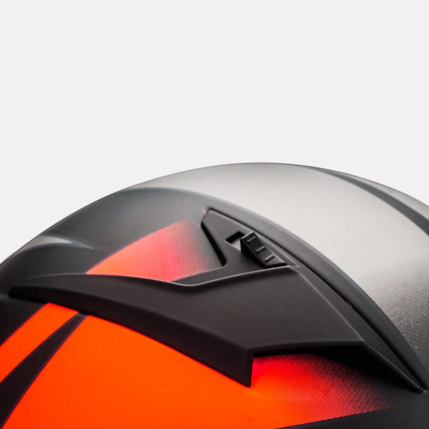 Vemar Ghibli Helmet orange vent detail