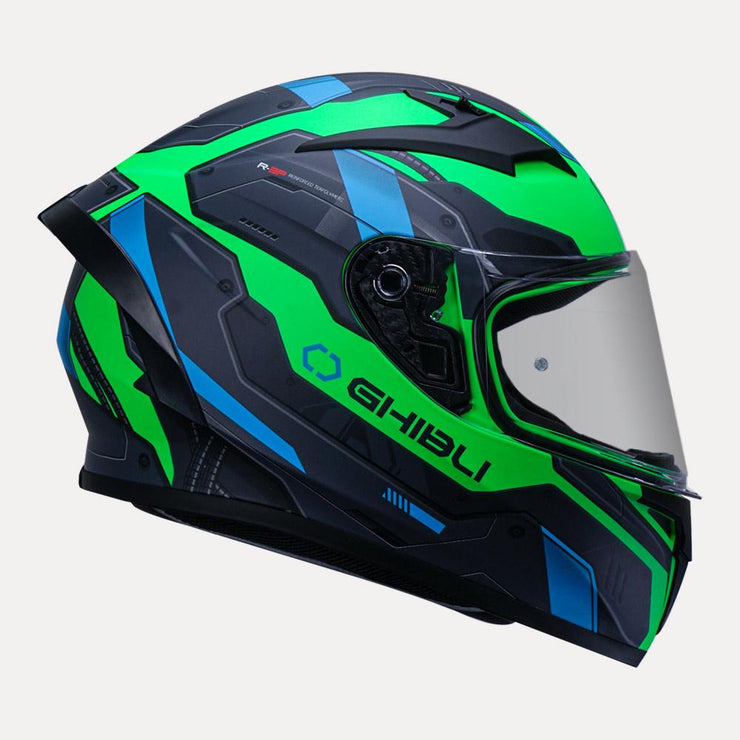 Vemar Ghibli Helmet green side view
