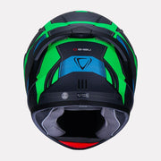 Vemar Ghibli Helmet green back view