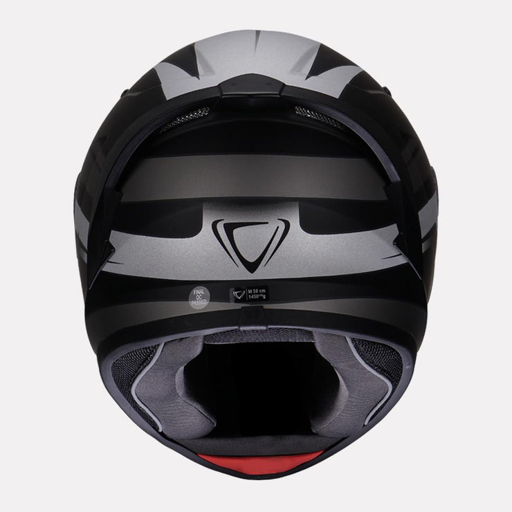 Vemar Ghibli Helmet grey back view