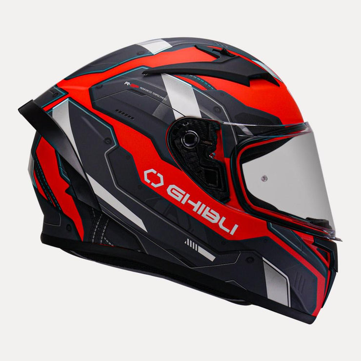 Vemar Ghibli Helmet red side view