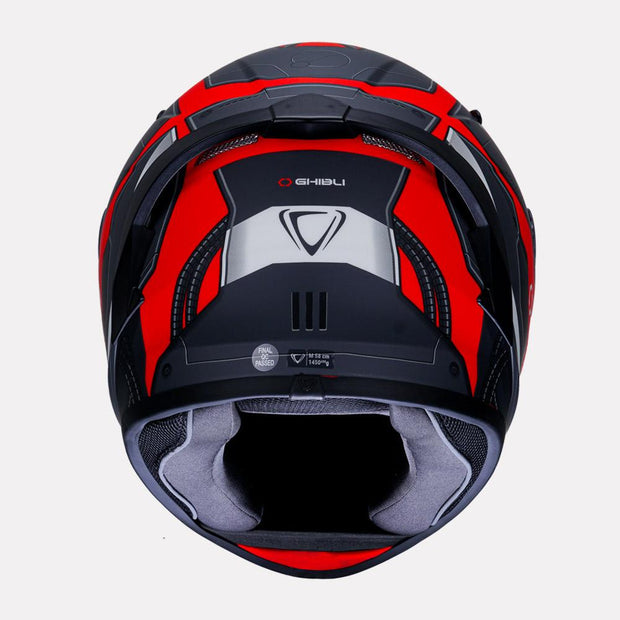 Vemar Ghibli Helmet red back view