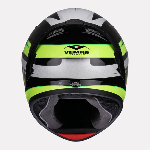 Vemar Ghibli Helmet yellow back view