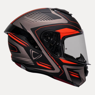Vemar Hurricane helmet orange side view