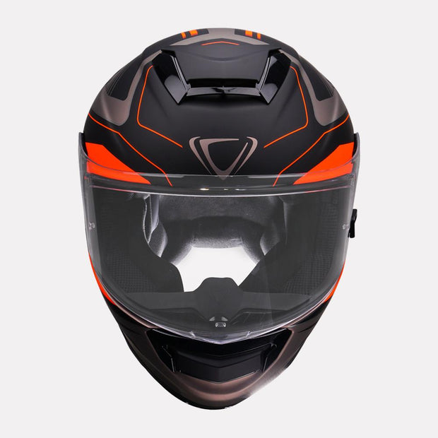 Vemar Hurricane helmet orange front view