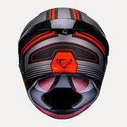 Vemar Hurricane helmet orange back view