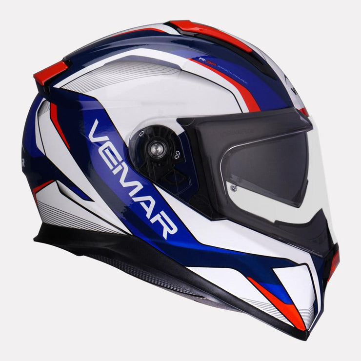 Vemar Zephir Lunar Gloss Helmet blue red side view