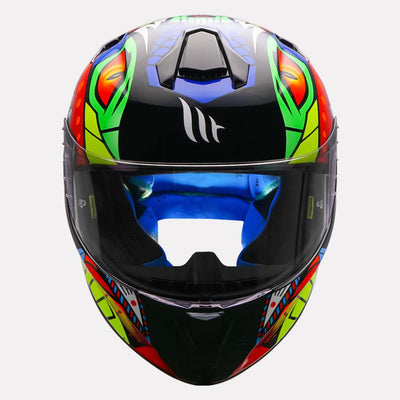 AXXIS Viper Fish Gloss Pearl White Helmet (Fluorescent Yellow)