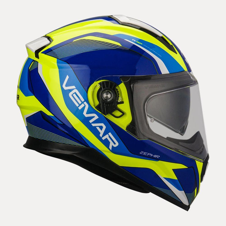Vemar Zephir Lunar Gloss Helmet fluorescent yellow side view