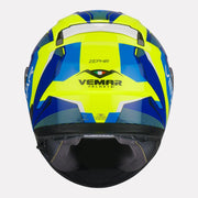 Vemar Zephir Lunar Gloss Helmet fluorescent yellow back view