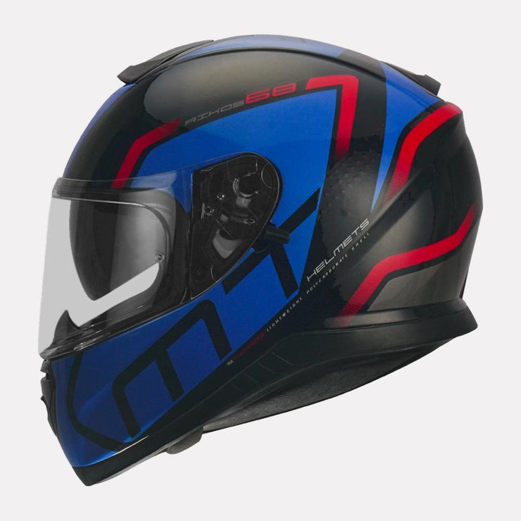 MT Thunder3 SV Rikos Helmet blue side view