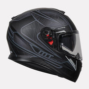 MT Thunder Storke helmet grey side view