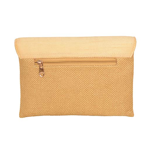 Zephyrr Women's Evening Jute Clutch Bag Clutch Handbag/Purse Shoulder Bag for Wedding Cocktail Party