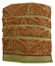 "Load image into Gallery viewer, Antique Vintage Saree Border Hand Embroidered Indian Trims Lace 1.5""W +1 Yard"