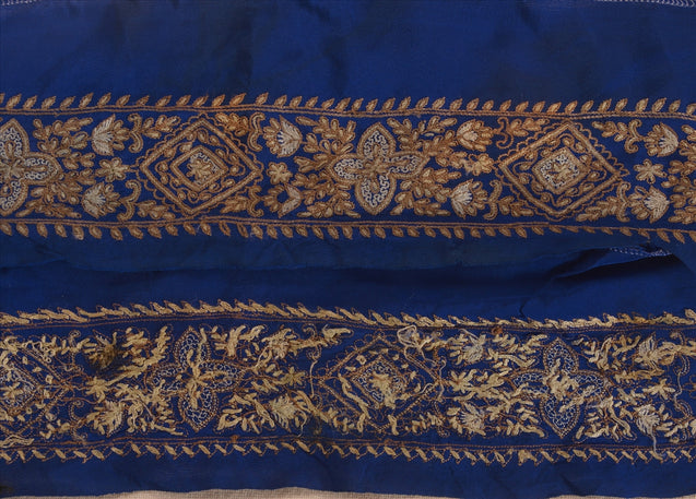 "Antique Vintage Saree Border Hand Embroidered Craft Trims Lace 2""W +1 Yard"