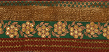 "Load image into Gallery viewer, Antique Vintage Saree Border Hand Embroidered Craft Trims Lace 3.5""W +1 Yard"
