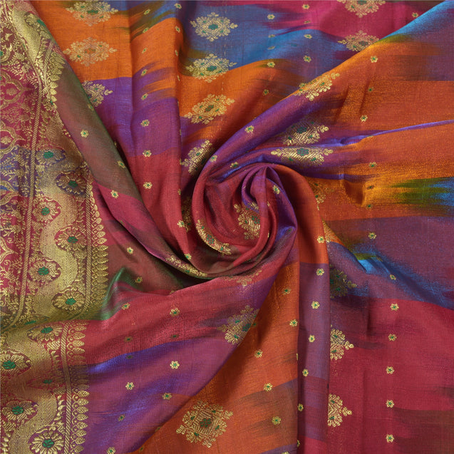 Sanskriti Vintage Wedding Heavy Sarees Art Silk Woven Brocade Sari Zari Fabric