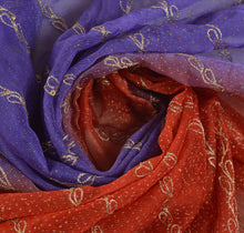Load image into Gallery viewer, Sanskriti Vintage Dupatta Long Stole Art Silk Red Hijab Hand Beaded Wrap Scarves
