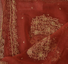 Load image into Gallery viewer, Sanskriti Vintage Dupatta Long Stole Chiffon Silk Pink Scarves Hand Beaded Hijab