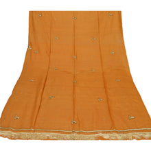 Load image into Gallery viewer, Sanskriti Vintage Dupatta Long Stole Pure Silk Saffron Hand Beaded Wrap Veil