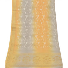 Load image into Gallery viewer, Vintage Dupatta Long Stole Georgette Cream Hijab Embroidered Woven Wrap Veil