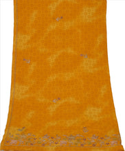 Load image into Gallery viewer, Sanskriti Vintage Dupatta Long Stole Art Silk Saffron Scarves Hand Beaded Hijab
