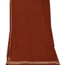 Load image into Gallery viewer, Vintage Dupatta Long Stole Chiffon Silk Orange Hijab Hand Beaded Wrap Scarves