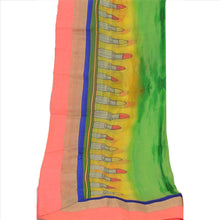 Load image into Gallery viewer, Vintage Dupatta Long Stole Georgette Lemon Embroidered Digital Print Scarves