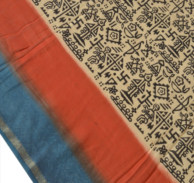 Vintage Dupatta Long Stole Cotton Multi Color Wrap Hijab Printed Veil Scarves