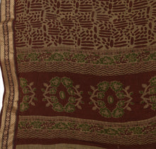 Load image into Gallery viewer, Vintage Dupatta Long Stole Cotton Brown Wrap Hijab Printed Veil Scarves