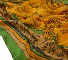 Load image into Gallery viewer, Vintage Dupatta Long Stole Art Silk Saffron Wrap Hijab Printed Veil Scarves