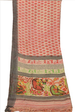 Load image into Gallery viewer, Vintage Dupatta Long Stole Art Silk Cream Wrap Hijab Printed Veil Human Scarves