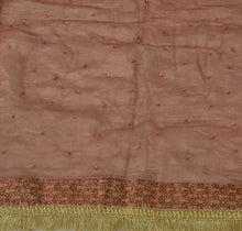 Load image into Gallery viewer, Vintage Dupatta Long Stole Tissue Golden Red Scarves Woven Brocade Wrap Hijab