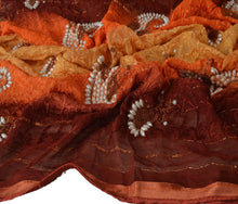 Load image into Gallery viewer, Sanskriti Vintage Dupatta Long Stole Cotton Multi Color Scarves Hand Beaded Veil