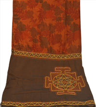 Load image into Gallery viewer, Sanskriti Vintage Dupatta Long Stole Cotton Orange Hand Beaded Wrap Veil
